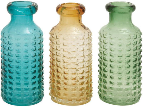 Benzara 67457 The Thick Glass Vase 3 Assorted