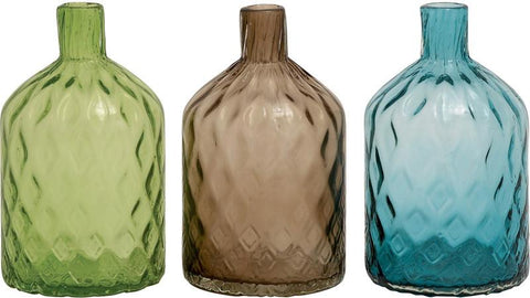 Benzara 67466 Fantastic Styled Glass Vase 3 Assorted