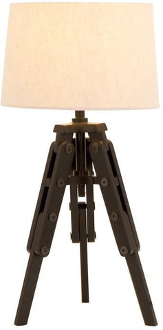 Benzara 67676 Old World Table Lamp With Tripod From Nostalgic Silent Film Era