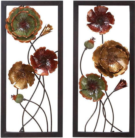 Benzara 68353 Metal Wall Decor 2 Asst Comes In A Set Of Two