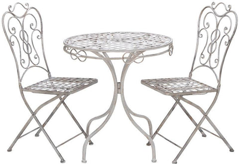 Benzara 68792 Patio Vintage Themed Outdoor Table And Chair Set