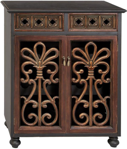 "Bayden Hill Wood Wine Cabinet 37""H, 30""W - Peazz.com"