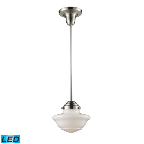 ELK Lighting 69042-1-LED Schoolhouse Pendants Collection Satin Nickel Finish - PeazzLighting