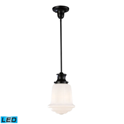 ELK Lighting 69053-1-LED Schoolhouse Pendants Collection Oiled Bronze Finish - PeazzLighting