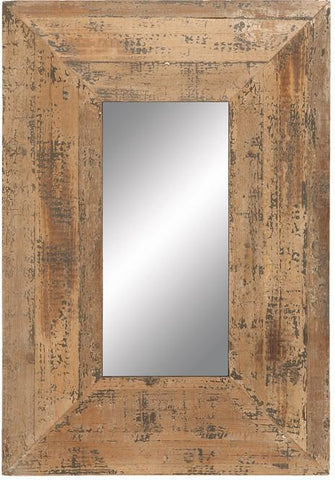 Benzara 69267 Looking Glass Style Mirror With Old Look Rectangle Frame