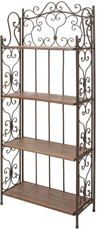"Bayden Hill Metal Wood Baker Rack 68""H, 27""W"
