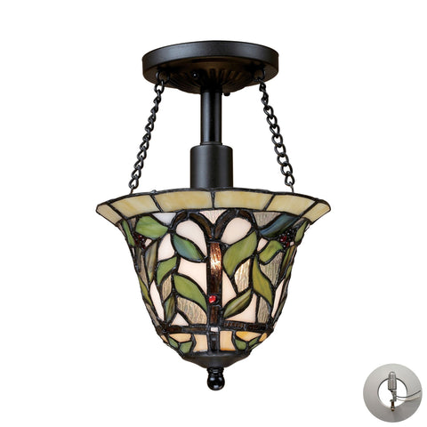 ELK Lighting 70114-1-LA Latham Collection Tiffany Bronze Finish - PeazzLighting