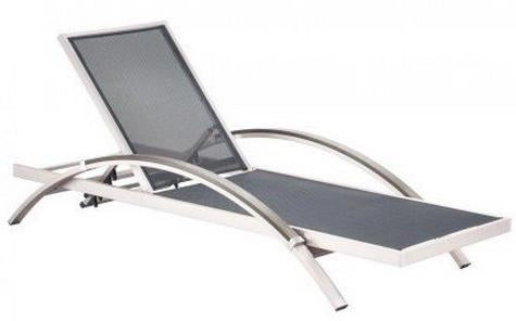 Zuo Chaise Lounge Color Brushed Aluminum Brushed Aluminum 10986
