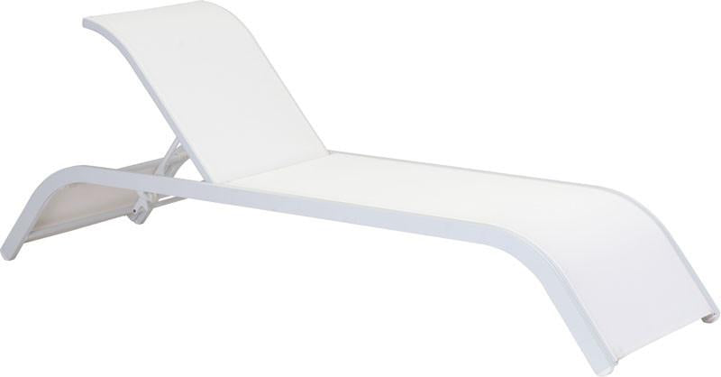 Zuo Beach Chaise Lounge Color White Powder Coated Aluminum Sun