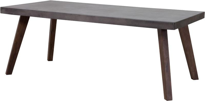 Dining Table Cement Natural Acacia Wood Son