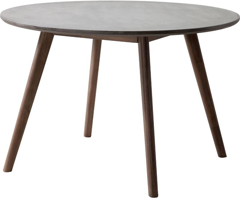 Dining Table Color Cement Natural Acacia Wood Elite 3161 Product Photo