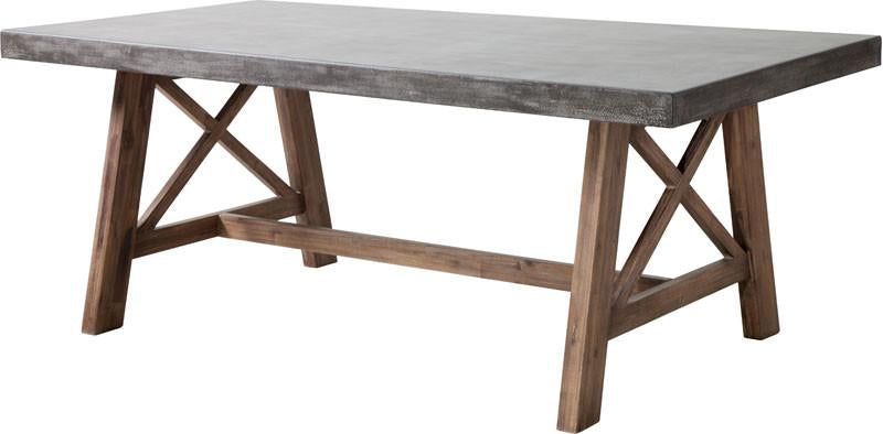 Table Dining Table Color Cement Natural Acacia Wood Ford Photo