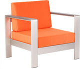 Zuo Modern 703650 Cosmopolitan Arm Chair Cushions Color Orange Foam Finish - Peazz.com - 1