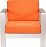 Zuo Modern 703650 Cosmopolitan Arm Chair Cushions Color Orange Foam Finish - Peazz.com - 3