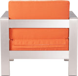 Zuo Modern 703650 Cosmopolitan Arm Chair Cushions Color Orange Foam Finish - Peazz.com - 4