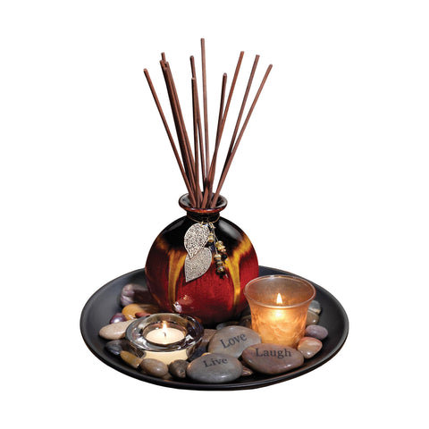 Pomeroy POM-708275 Adele Collection Black,Red Finish Diffusers/Incense
