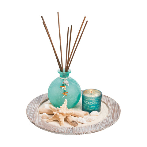 Pomeroy POM-709029 Oasis Collection Antique Palonia,Tierra Azre,Frst Finish Diffusers/Incense
