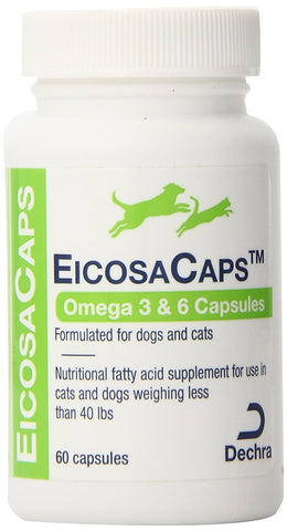 EicosaCaps For Dogs & Cats Up To 40 lbs, 60 Capsules - Peazz Pet