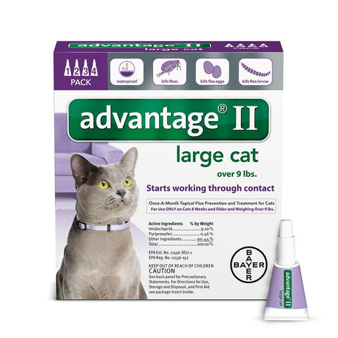 Advantage PURPLE-20-4 Flea Control for Cats and Kittens Over 9 lbs 4 Month Supply