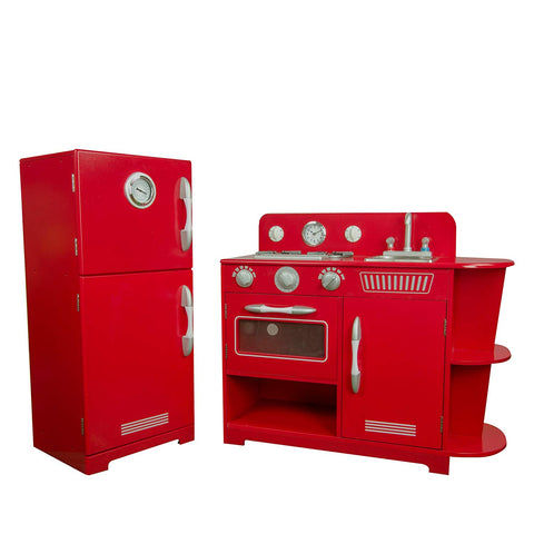 Teamson TD-11779C Teamson Kids - Little Chef Amsterdam Retro Play Kitchen - Red