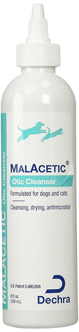 Malacetic Otic Ear and Skin Cleanser, 8 oz. - Peazz Pet