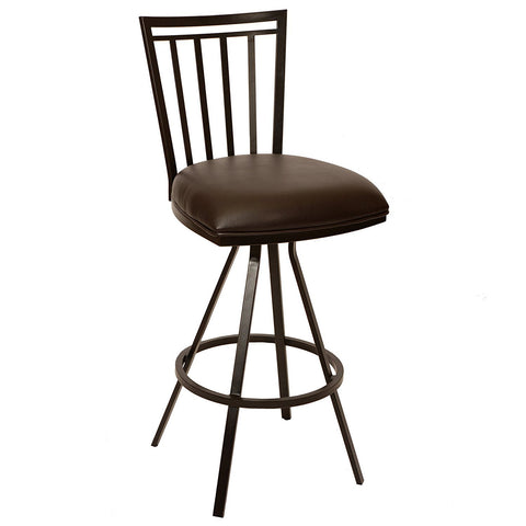 "Armen Living LCAI26BABR Aidan 26"" Transitional Barstool In Coffee  and Auburn Bay Metal"