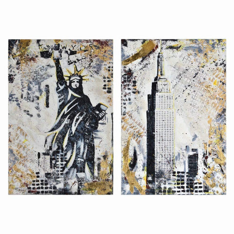 Renwil Modern Glamour 2 Piece Gotham Canvas Painting Set