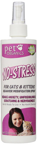 Nala Barry Laboratories 16080 Pet Organics NoStress For Cats & Kittens, 16 oz. Spray - Peazz Pet