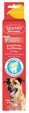 Sergeant's 18328 Petrodex Enzymatic Toothpaste For Dogs Poultry, 2.5 oz - Peazz Pet
