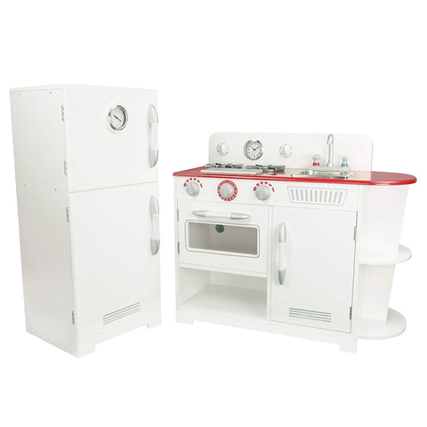 Teamson TD-11779B Teamson Kids - Little Chef Amsterdam Retro Play Kitchen - White
