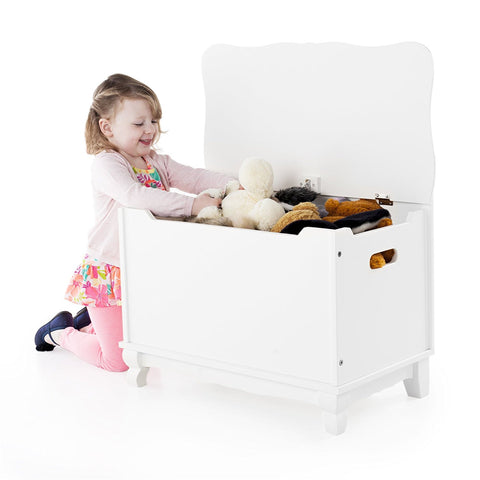 Guidecraft Classic White Toy Box - Peazz Toys