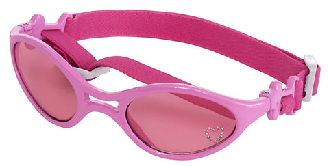 Doggles SGRBXS02 K9 Optix Shiny Pink Rubber Frame with Pink Lens Sunglasses, X-Small