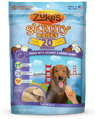 Zuke's Z-30635 Skinny Bakes 20's Coconut and Aronia 10 oz.