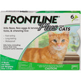 Merial 10193 Frontline Plus For Cats, Green 6 Tubes - Peazz Pet
