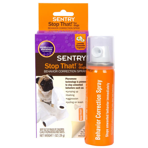 Sentry Stop That! Noise and Pheromone Spray, 1 oz - Peazz Pet