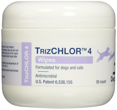 TrizCHLOR 4 Wipes, 50 Count - Peazz Pet