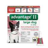 Advantage RED-55-4 Flea Control for Dogs and Puppies 21-55 lbs 4 Month Supply