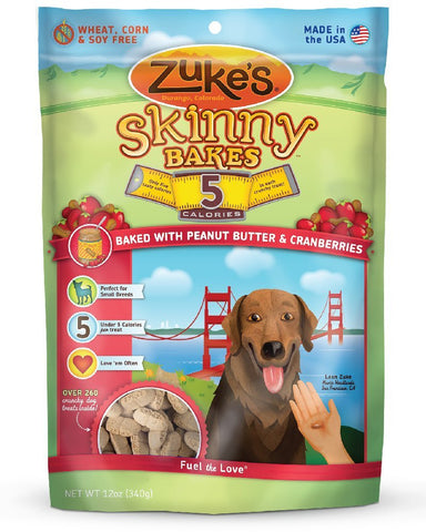 Zuke's Z-30137 Skinny Bakes 5's Peanut Butter and Cranberry 12 oz.