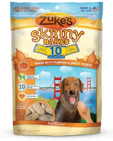 Zuke's Z-30436 Skinny Bakes 10's Pumpkin and Sweet Potato 12 oz.