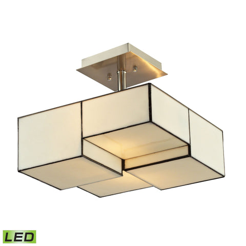 ELK Lighting 72061-2-LED Cubist Collection Brushed Nickel Finish - PeazzLighting