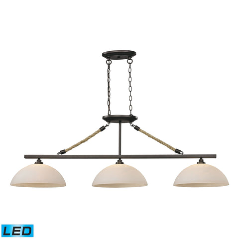 ELK Lighting 73045-3-LED Natural Rope Collection Aged Bronze Finish - PeazzLighting