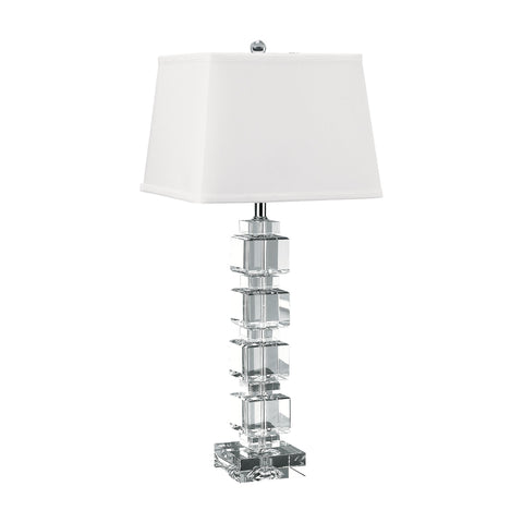 Lamp Works LAM-743T Crystal Collection Clear Finish Table Lamp