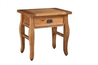 Linon 76057ANT01U Santa Fe End Table Antique Finish