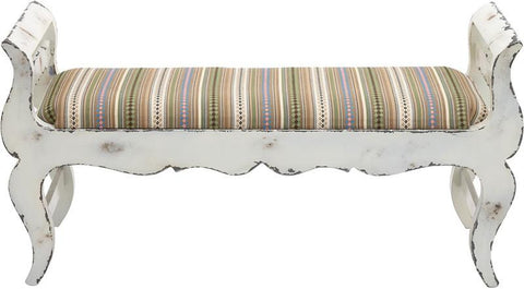 Benzara 76132 The Funky Wood Fabric Bench