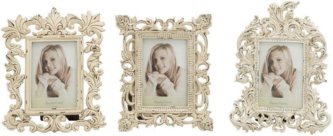 Benzara 76466 Alluring Polystone Photo Frame 3 Assorted