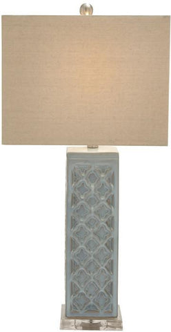 "Bayden Hill Ceramic Acrlic Table Lamp 30""H - Peazz.com"