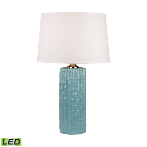 Lamp Works LAM-8001-LED Ceramic Collection Light Blue Finish Table Lamp