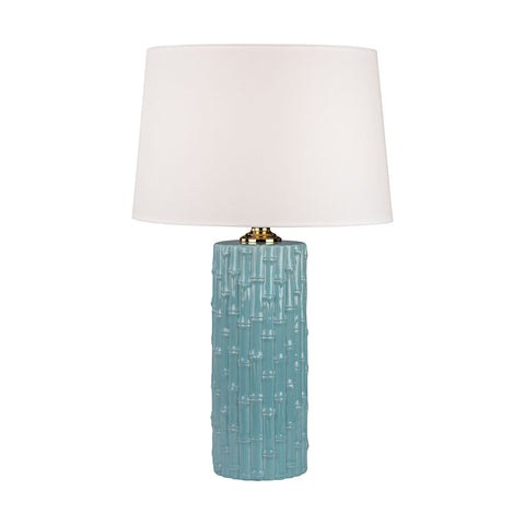 Lamp Works LAM-8001 Ceramic Collection Light Blue Finish Table Lamp