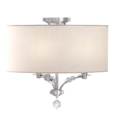 Crystorama 8005-PN_CEILING Mirage 3 Light Nickel Semi-Flush - PeazzLighting
