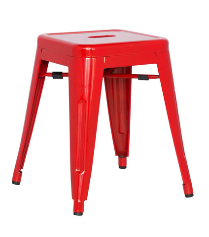 Chintaly 8018-SC-RED Galvanized Steel Side Chair ( Set of 4 )